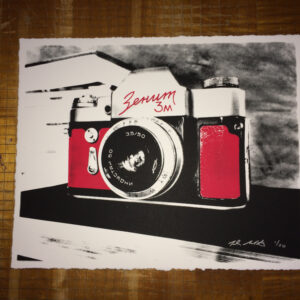 Zenith Camera print. 11.5 x 14.5 in inches on 100% Cotton paper